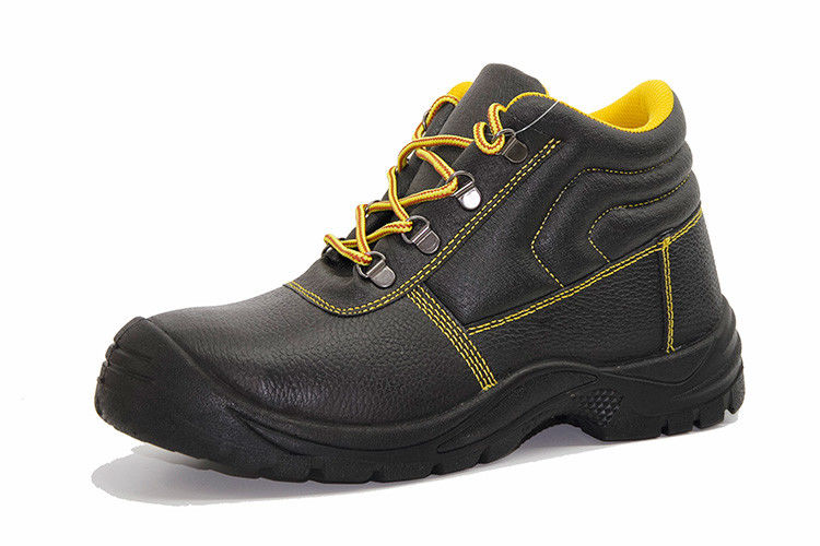 Shock Resistant Genuine Leather Work Shoes PU Injection Outsole Shoes