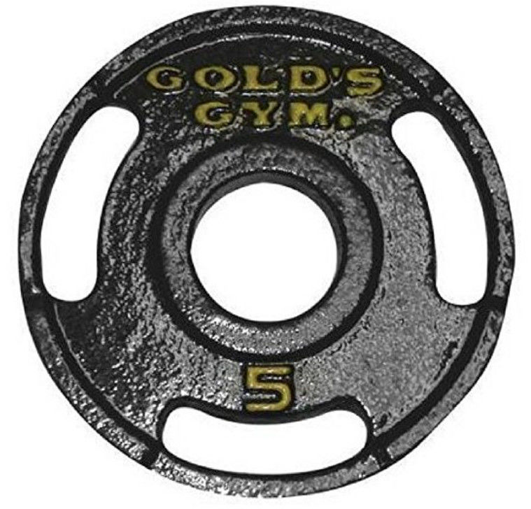 5 LBS Tri - Grip Cast Iron Weight Plates Customized Label With UPC Code